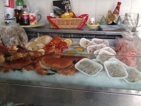 Fresh shellfish and wet fish from Selsey fishermen.