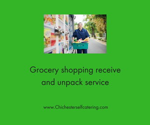 Grocery shopping receive and unpack service