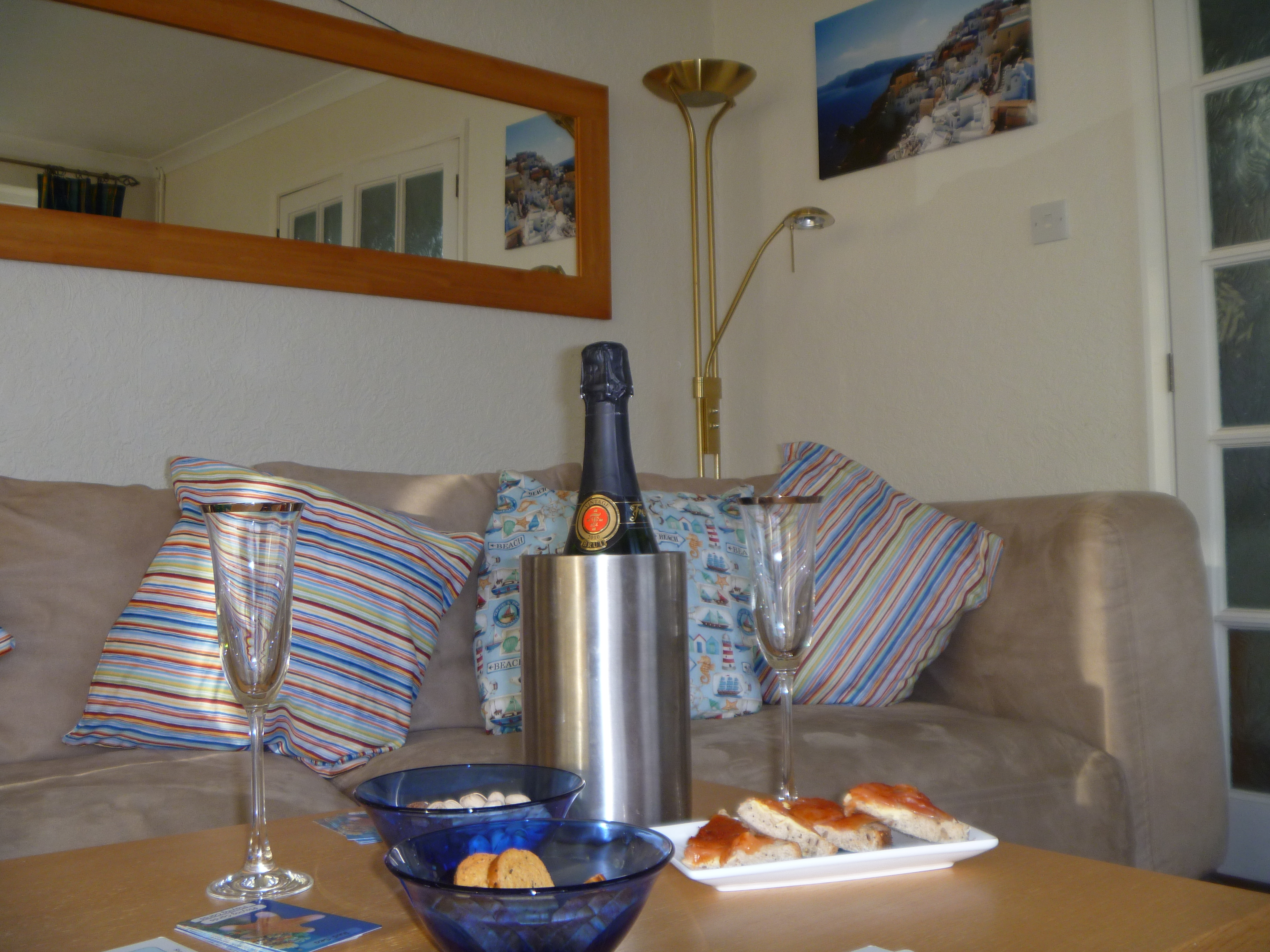 Champagne and canapes on arrival? Just one of the extras we offer our guests.