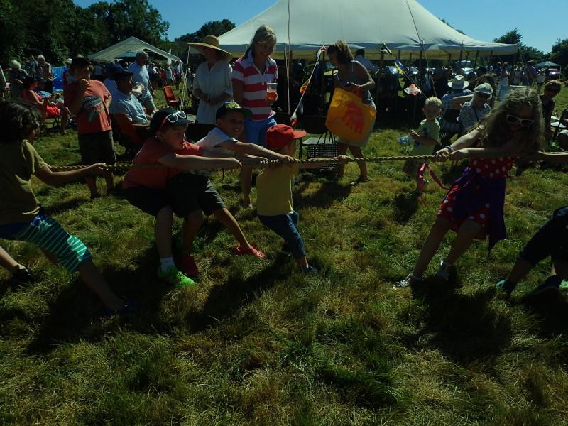 Tug of War at the village fair